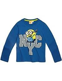 170270a505da2 MINIONS Despicable Me Garçon Tee-Shirt Manches Longues 2016 Collection -  Bleu