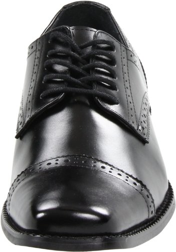 Stacy Adams Delmont Hommes Cuir Mocassin Black