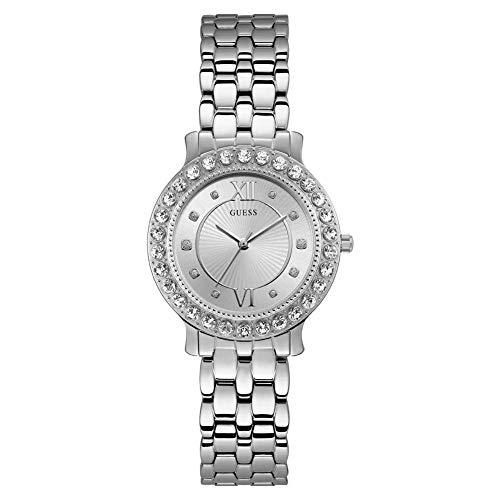 Guess Damen Analog Quarz Uhr mit Edelstahl Armband W1062L1