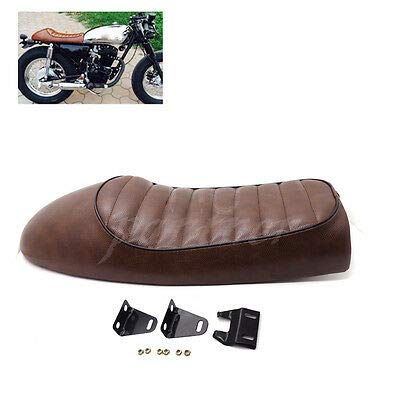 FidgetGear Brown Hump Custom Cafe Racer Sitz Vintage Sattel für CB350 CB450 CB750 -