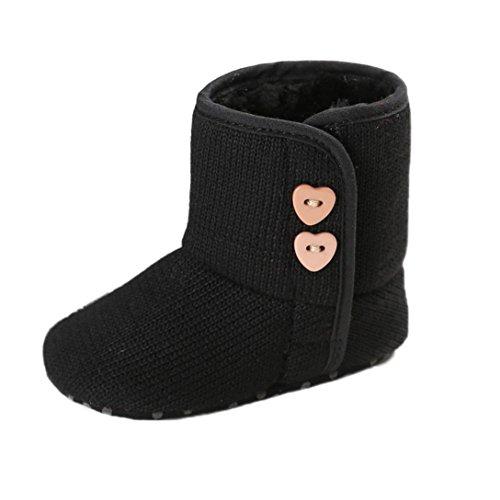 Fulltime® Chaussures de bébé, Bébé Garçon Fille Bouton Doux Sole Bottes de Neige Chaussures