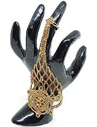 Majik Hand Bracelet With Ring For Wedding Girls, Golden, 30 Gram, Pack Of 1