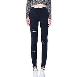 Pantalones Vaqueros Mujer Slim Fit Pantalones Rotos Mallas Mujer Fitness Leggings Yoga Deportivos Pantalones Push Up Armada XL