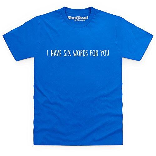 Six Words T-Shirt, Herren Royalblau
