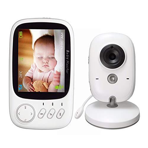 """Babyphone mit Kamera und nachtsicht Testsieger 2018,Video Baby Monitor mit 3.2\""""\"""" TFT LCD Bildschirm Zwei-Wege-Gespräch Temperaturüberwachung und Schlaflieder Infrarot Nachtsicht"""