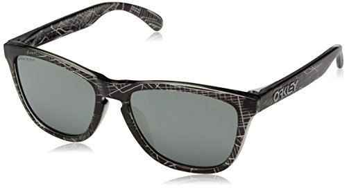 Oakley Men's Frogskins (a) Non-Polarized Iridium Rectangular Sunglasses, UC NYC Black, 54.5 mm