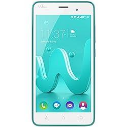 """Wiko Jerry - Smartphone libre Android (pantalla 5"""", Quad-core, 8 GB, 1 GB RAM, cámara 5 Mp), color turquesa"""