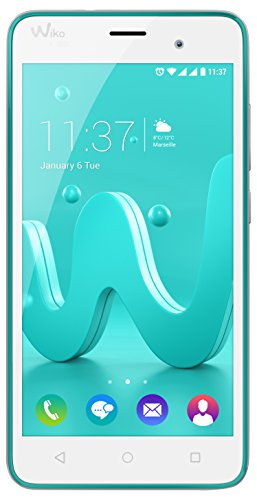 "Wiko Jerry - Smartphone libre Android (pantalla 5"", Quad-core, 8 GB, 1 GB RAM, cámara 5 Mp), color turquesa"