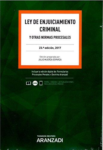 Ley de Enjuiciamiento Criminal (Papel + e-book): y otras normas procesales (Código Básico)