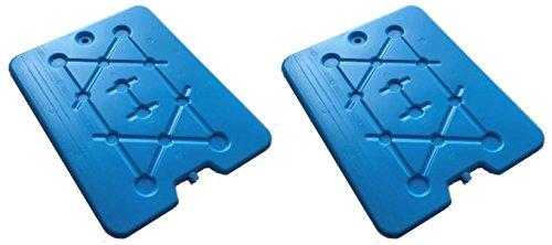 Kühlakku Kühlelemente XXL Blau für Kühltasche und Kühlbox 32 x 25,5 cm 2 Stück Set