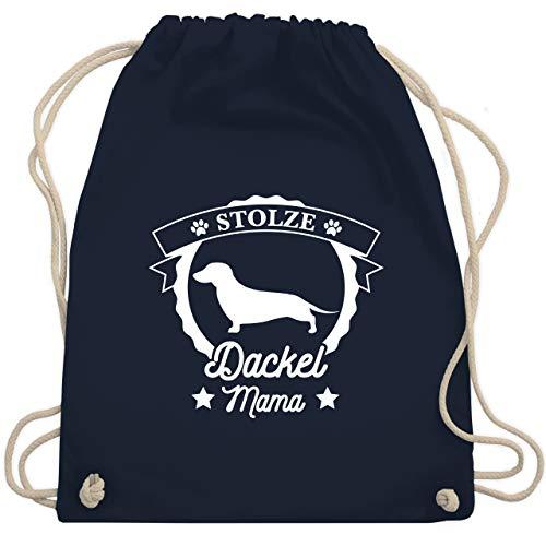 Hunde - Stolze Dackel Mama - Unisize - Navy Blau - WM110 - Turnbeutel & Gym Bag -