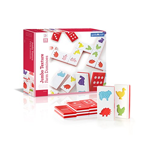Guidecraft Jumbo Texture Dominoes Set by Guidecraft