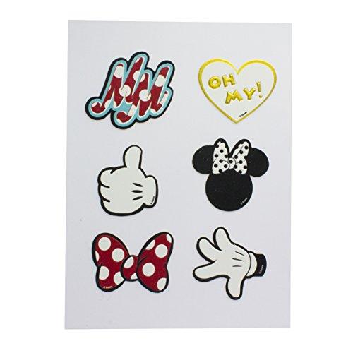 Minnie Mouse Accessoire de Stickers, polyuréthane, Multi, 1 x 14 x 19 cm