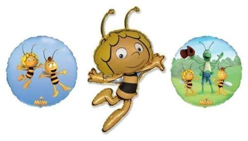 Maya l'abeille aluminium Ballons (pack de 3, 1 de chaque modèle)