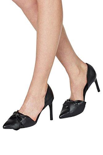 next Femme Escarpins en cuir en deux parties avec nœud Noir