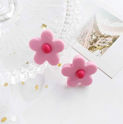 ERHUAN Ohrringe aus Kunststoff Hand Ohrringe Anti-Allergie-Ohrring forMädchen/Frau,Pink