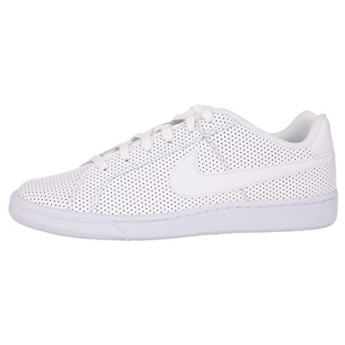 Nike - Court Royale Prem Leather, Scarpe sportive Uomo Bianco (Blanco (White / White-Metallic Silver))