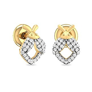 PC Jeweller The Calum 18KT Yellow Gold and Diamond Stud Earrings for Women
