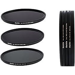 Nouveau: Haida PRO II Digital MC (multicouches) - Ensemble de Filtres à densité neutre minces composés ND8, ND64, ND1000 de 58mm y compris un conteneur de filtres avec un dispositif de protection des filtres et des bouchons d'objectif Pro