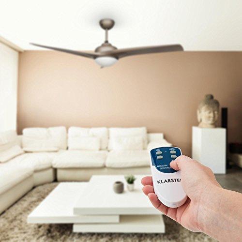 klarstein figo ventilator deckenventilator mit beleuchtung und fernbedienung 52 55w deckenlampe. Black Bedroom Furniture Sets. Home Design Ideas
