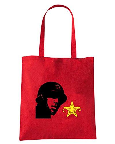 T-Shirtshock - Borsa Shopping TCO0044 cccp soldier Rosso