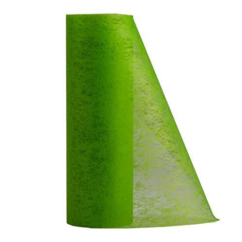 25 Meter Vlies Tischband Tischläufer Tischedeko Dekovlies grün