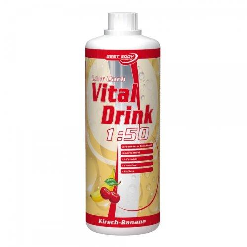 Best Body Nutrition - Low Carb Vital Drink, Lemon Lime, 1000 Ml Flasche