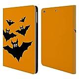 Head Case Designs Offizielle PLdesign Schwarze Fliegende Fledermaeuse Halloween Brieftasche Handyhülle aus Leder für iPad Air (2013)