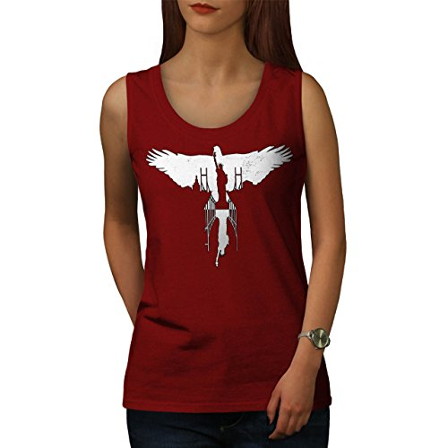 Amerika Stadt Freiheit USA Neu York Damen S-2XL Muskelshirt | Wellcoda Rot