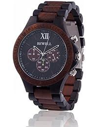 Reloj de madera ZEITHOLZ / Bewell GRUMBACH / Sándalo 100% / producto natural / peso pluma / hipoalergénico / sostenible / cómodo de usar / temporizador / pulsera de dos colores