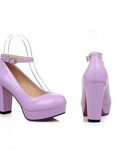 WSS 2016 Chaussures Femme-Bureau & Travail / Habillé / Décontracté-Noir / Vert / Violet / Amande-Talon Aiguille-Talons-Talons-Similicuir almond-us8.5 / eu39 / uk6.5 / cn40