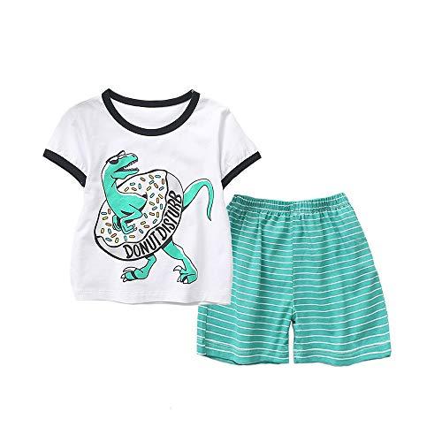 shangzhongshangmao Summer New Krokodil Print Boy Short Sleeve Shorts Set 2-6 (2 Jahre, ()
