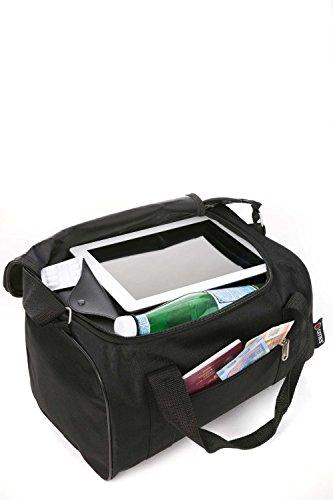 Ryanair Kabinenzugelassenes Handgepäck 55x40x20 & Zweites 35x20x20 Set - Nehmen Sie beide mit! 2 x schwarz
