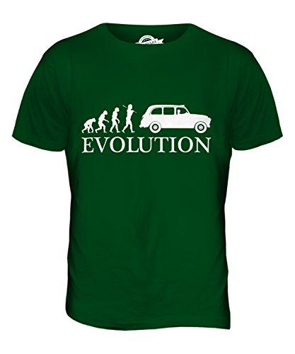 CandyMix Taxi Londoner Black Cab Evolution Des Menschen Herren T Shirt Flaschengrün