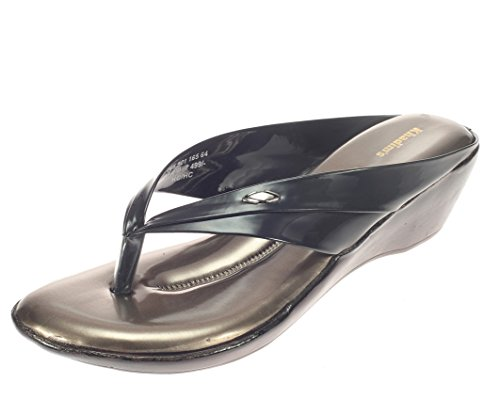 Khadim's Womens Black Faux Leather Heels -4  available at amazon for Rs.374