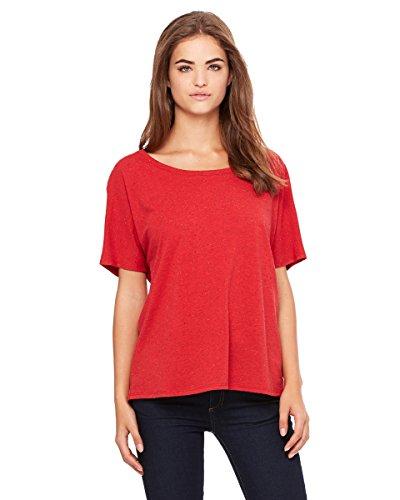 Bella pour femme Blended Flowy simple T-shirt Rouge - Red Speckled
