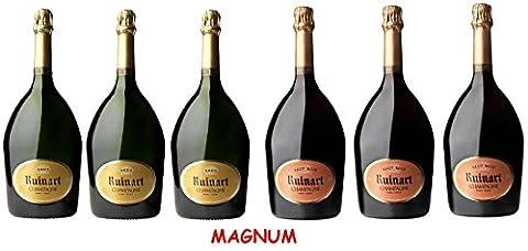 Lot Découverte Magnum de Champagne Ruinart Brut/Brut Rosé 1.5L