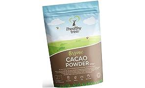 TheHealthyTree Company Cacao in Polvere Bio - Ricchi di Magnesio, Fibra, Proteina, Potassio e Ferro - Polvere di Cacao Bio (500g)