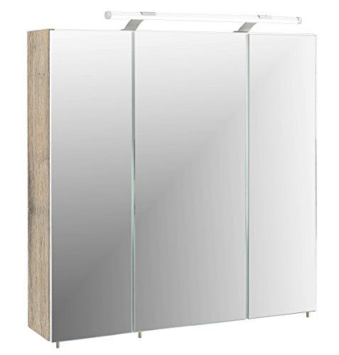 #Schildmeyer Spiegelschrank Holz Dekor, 70 x 17 x 67 cm, wildeiche#
