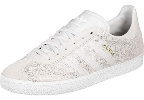 separation shoes c130f cae42 adidas Gazelle J, Scarpe da Fitness Unisex-Bambini, Bianco Griuno Ftwbla 000