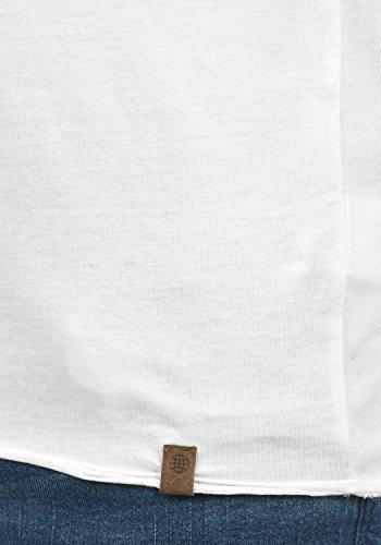 Blend Ireto T-Shirt Herrent-Shirt Kurzarm Shirt mit Grandad-Ausschnitt Aus 100% Baumwolle Offwhite (70005)