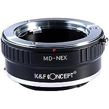 K&F Concept Adaptador de Lente para Montar la Lente de Minolta MD MC a Sony NEX E-Mount Cámara, Compatible con NEX-3 NEX-3C NEX-5 NEX-5C NEX-5N NEX-5R NEX-6 NEX-7 NEX-F3 NEX-VG10 VG20 etc
