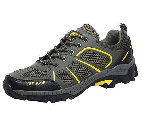Jimmackey Scarpe da Trekking Donna Uomo Running Scarpe da Montagna All'aperto Mesh Respirabile Antiscivolo Sneakers Stivali da Escursionismo Donna