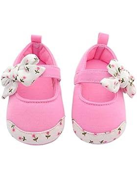 Hongfei Zapatos de algodón estilo princesa Bowknot Zapatos de bebé Velcro