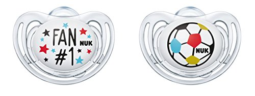 Nuk Freestyle Sucette Edition 10177117, Fan et ballon de football et orthodontique en silicone, lot de 2 Nuk