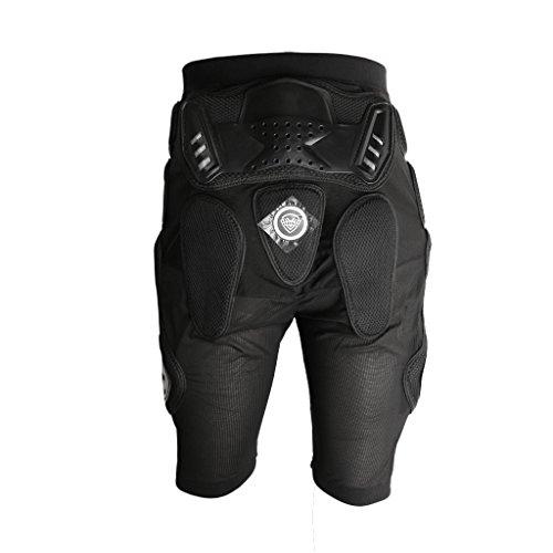 Schutzhose mit Hüftprotektor für Snowboard Skifahren, geeignet für Erwachsene und Kinder, Schwarz, Größe Auswählbar - XL