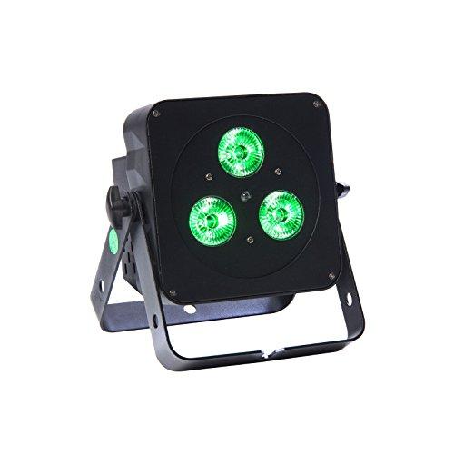 FLAT PAR MINI QUAD 3x5W RGBW, black, IR Remote