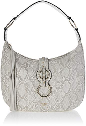 Guess Damen Dixie Schultertasche, Mehrfarbig (Natural Python/Npy), 40x33x14.5 centimeters -