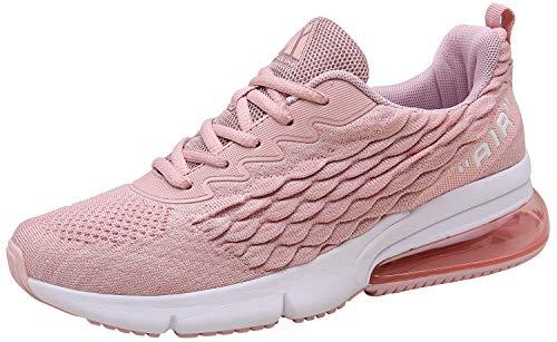 Mishansha Sportschuhe für Damen Turnschuhe Air Cushion Laufschuhe Leicht Outdoor Fitnessschuhe Sneakers (147 Rosa, 39 EU)
