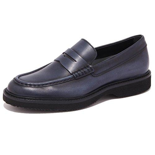 3835Q mocassino uomo HOGAN ROUTE blu scarpa shoe men [9]